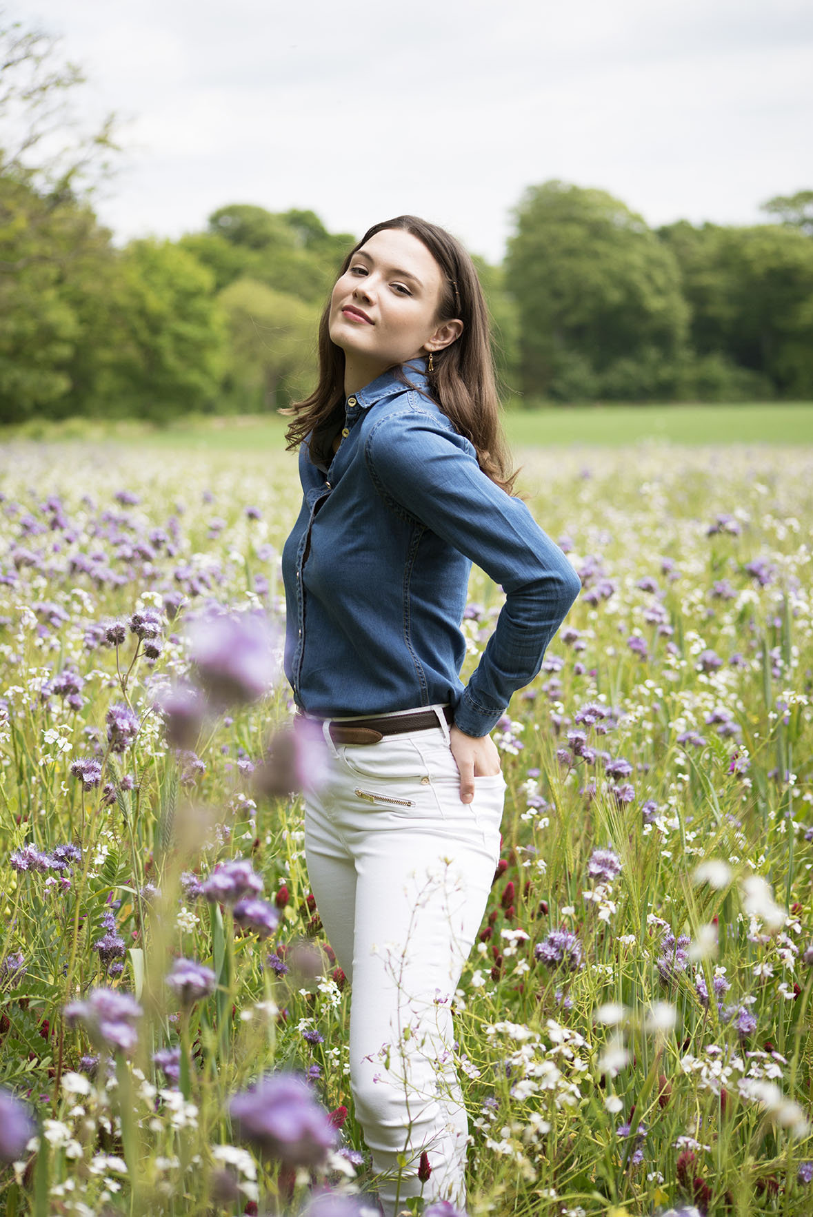 Spring Summer Fashion Photoshoot for Harris Rae As Seen in Cotswold Living Magazine 2020 Modelled by Holly Errington by Grace Delnevo Cotswold Fashion Photographer