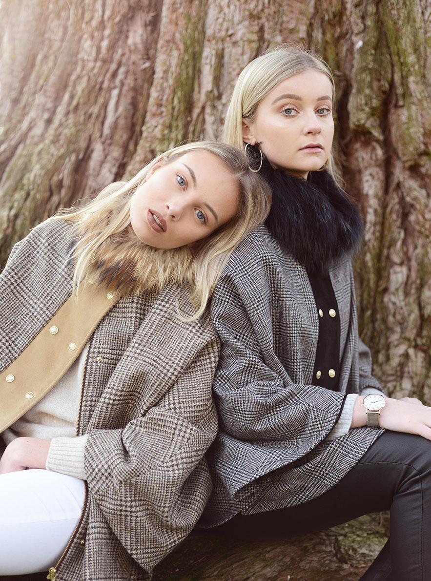 Harris Rae winter campaign shot by Grace Delnevo Cotswold Fashion Photographer