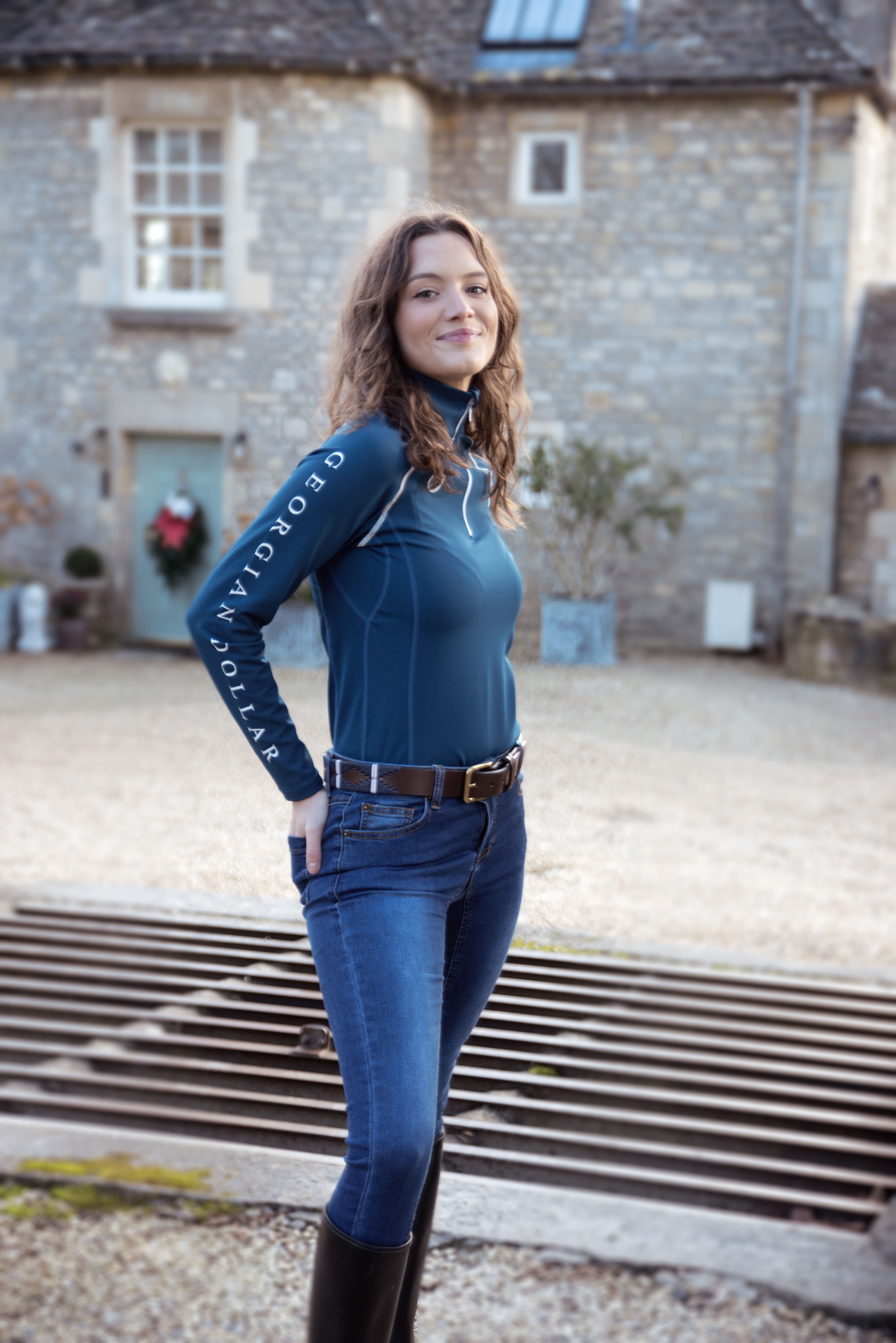 Equestrian Photoshoot For Georgian Dollar. Modelled by Holly Errington by Grace Delnevo Cotswold Fashion Photographer