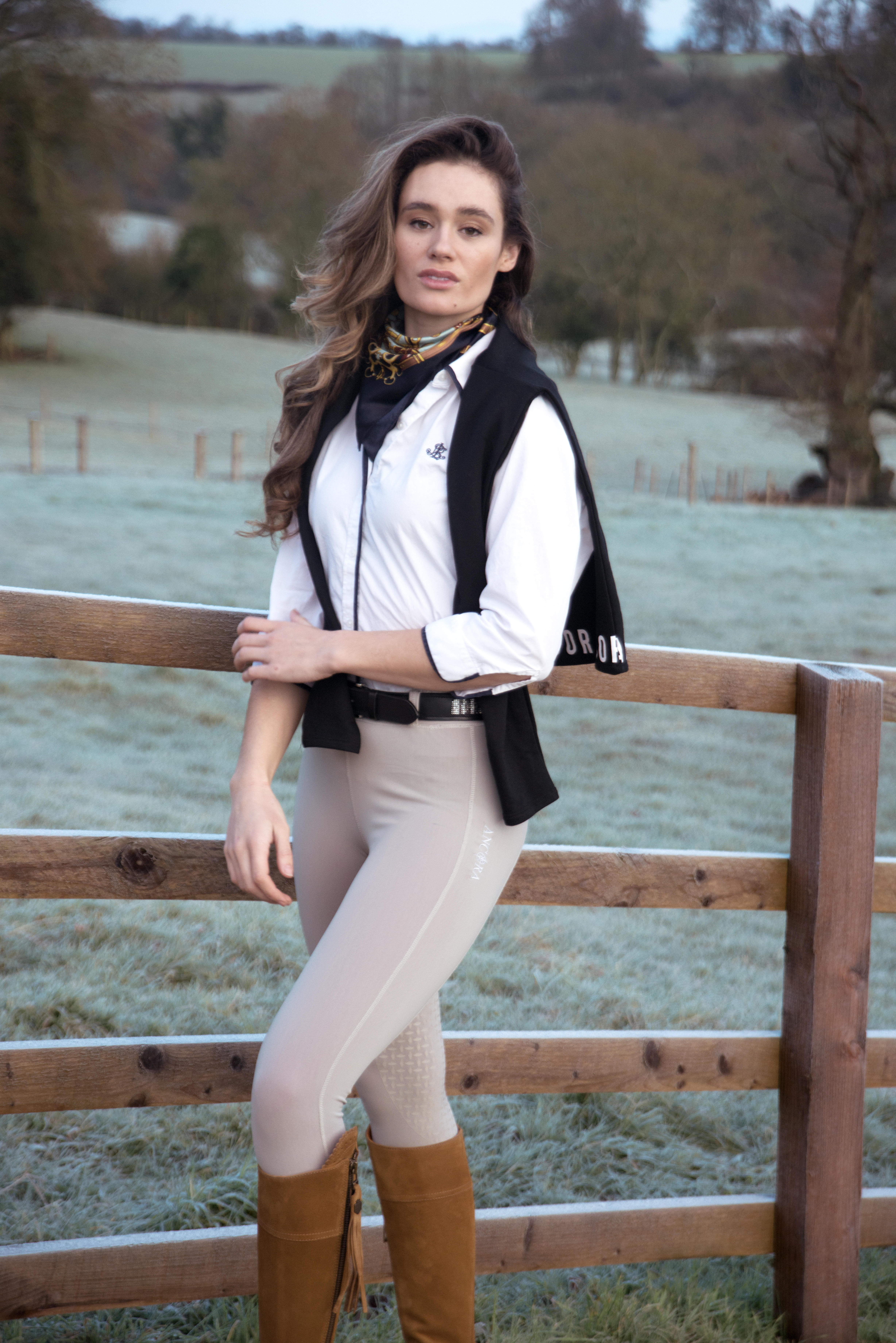 Autumn/Winter Fashion Photoshoot in the Cotswolds Modelled by Laura Thyer by Grace Delnevo Cotswold Fashion Photographer for Ancora Equestrian