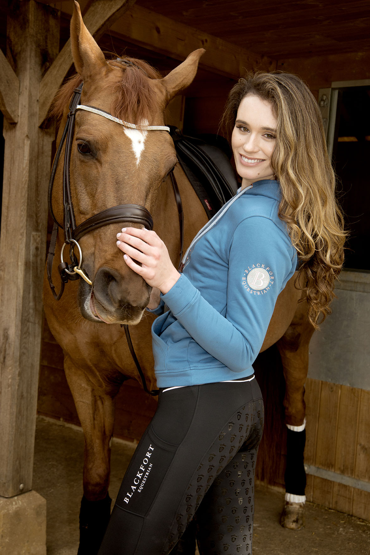 Cotswold Equestrian Fashion Photography With Horses