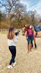 Behind the scenes equestrian photoshoot