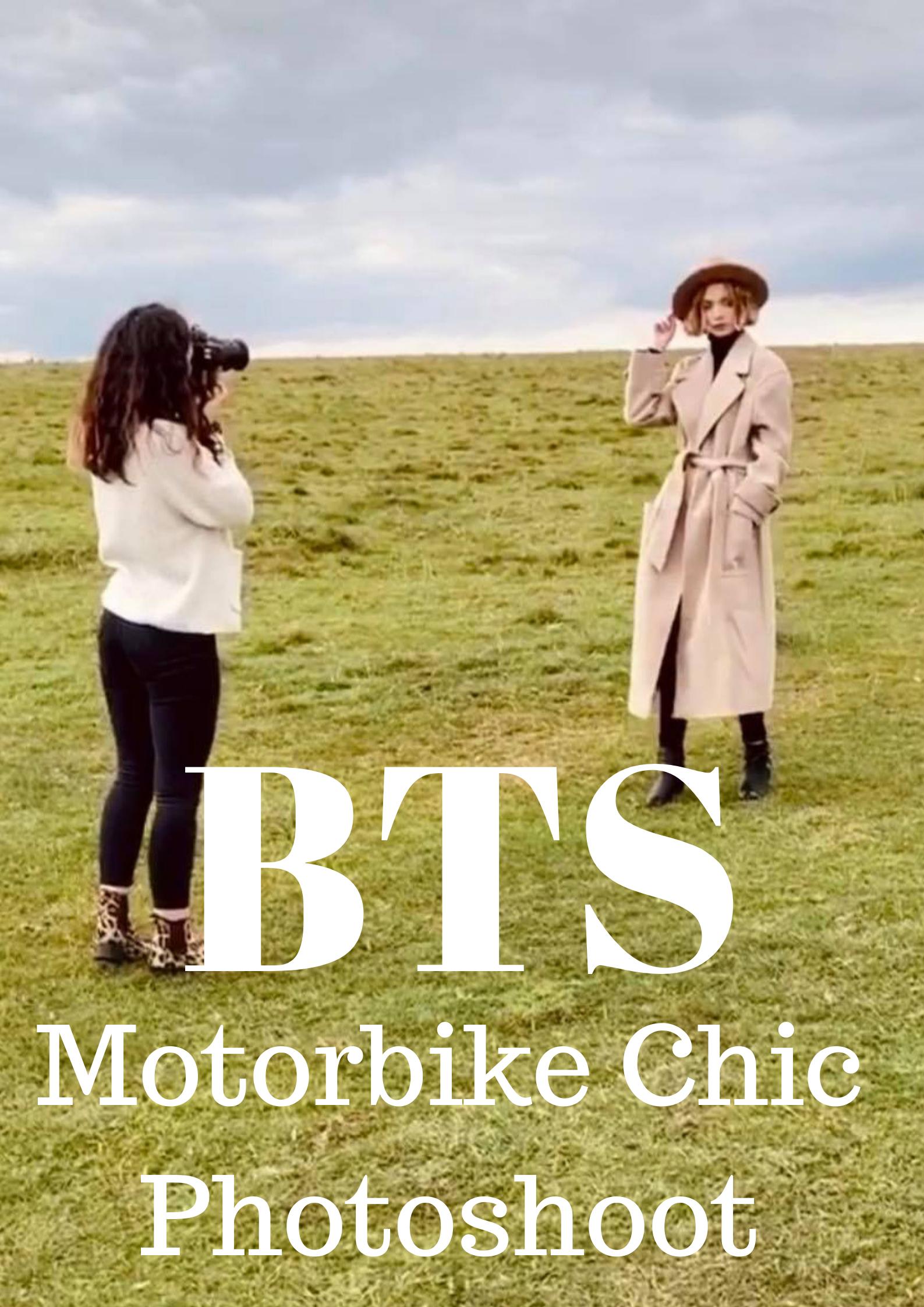 Motorbike Chic Cotswold Fashion Photoshoot Tyla Paton Florence Wear MUA Grace Delnevo Photography