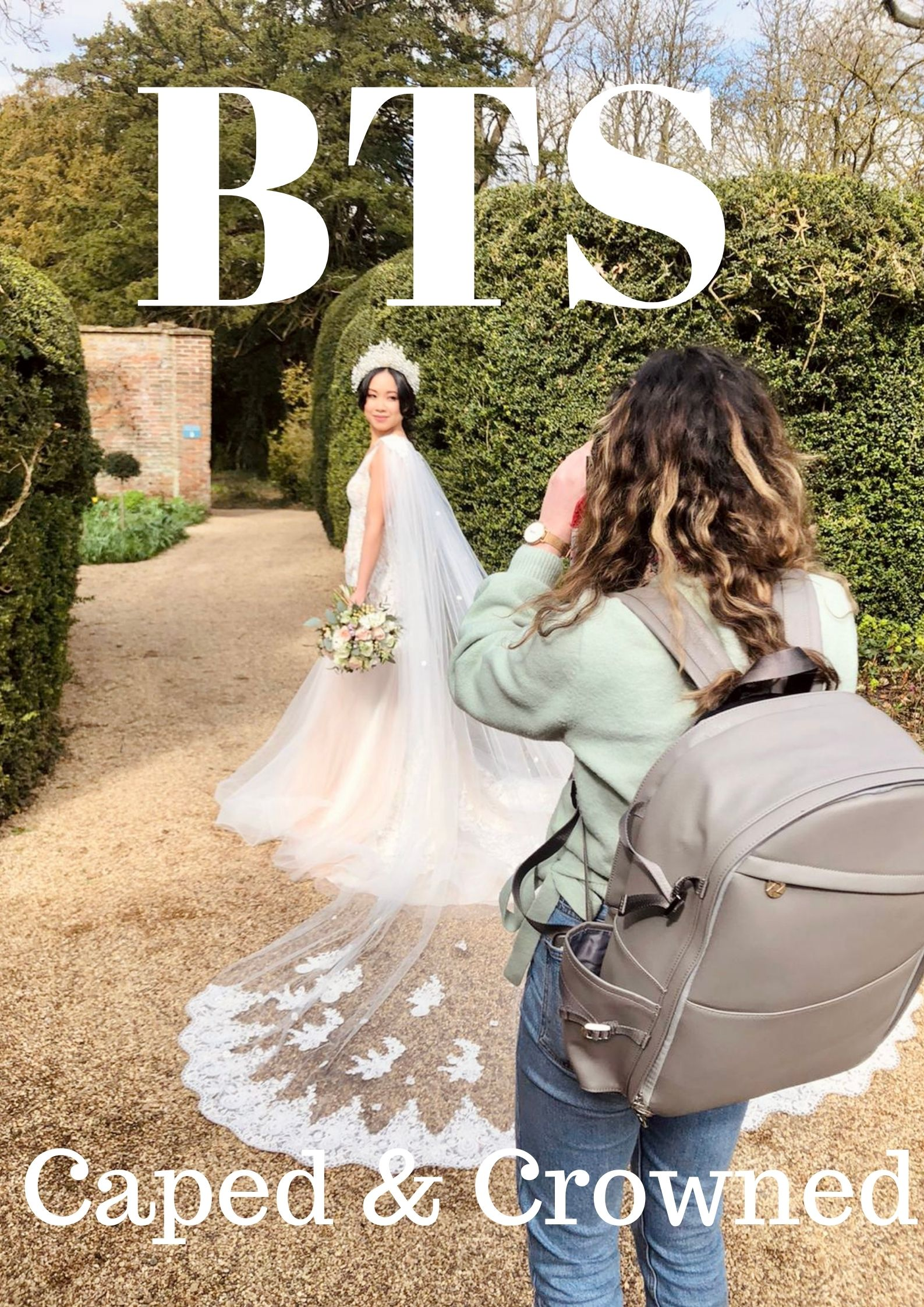BTS Bridal Fashion Photoshoot Caped And Crowned Grace Delnevo Cotswold Fashion Photographer
