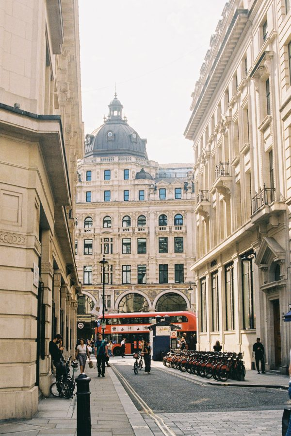 London on 35mm film greetings card