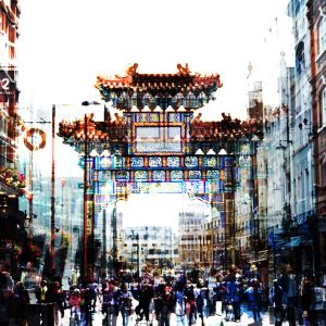 China Town Greetings Card