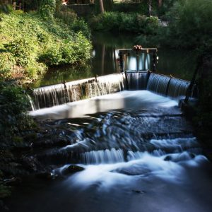Egypt Mill Cotswold Waterfall Greetings card